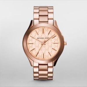 Michael Kors Slim Runway Rose Gold-Watch MK3336